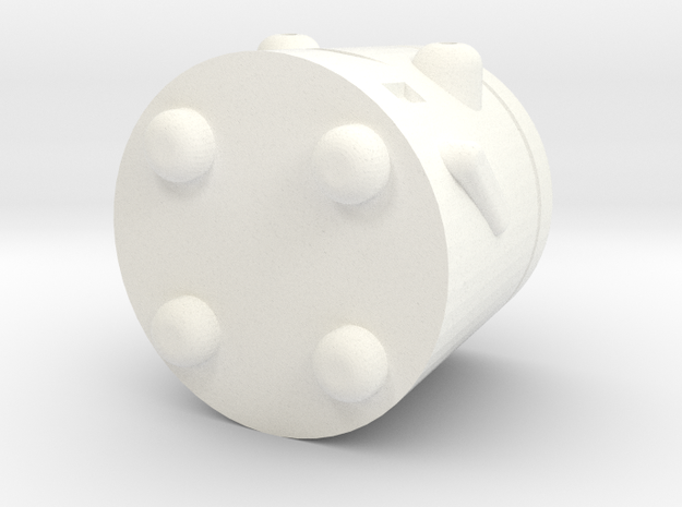 TinyRobo in White Processed Versatile Plastic