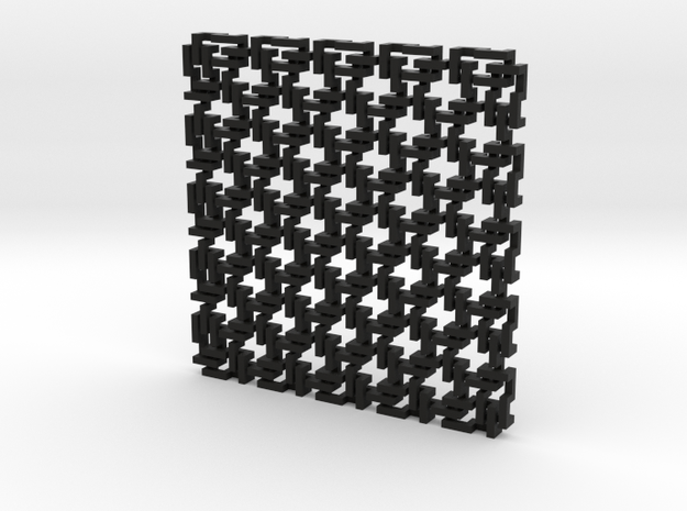 Square Maille - Flat N sampler 3d printed