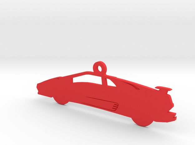 Lamborghini Diablo VT Ornament in Red Processed Versatile Plastic