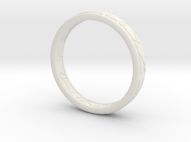 Broken ring in White Natural Versatile Plastic