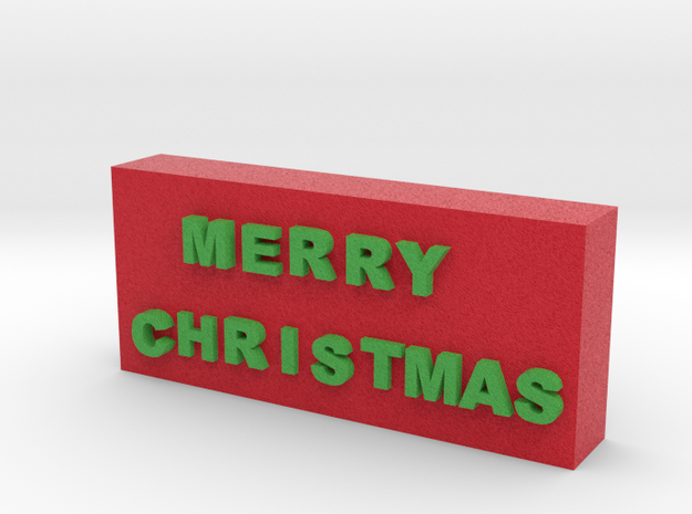 Merry Christmas Sign 3d printed
