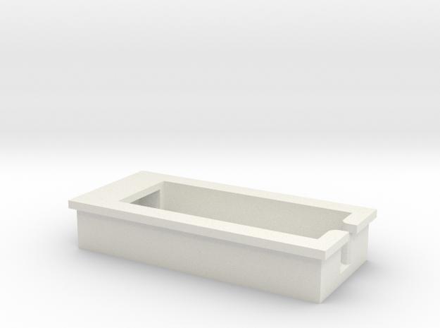 iPhone4 Ruger - USB Cradle in White Natural Versatile Plastic