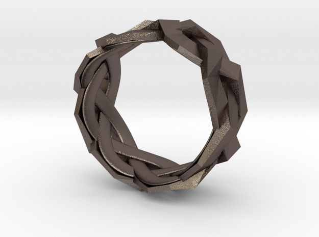 Braided Polygon Ring Size 7 3d printed