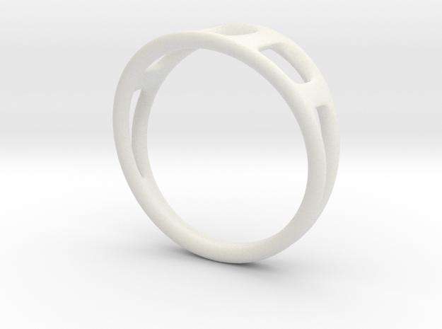 Ring2 in White Natural Versatile Plastic