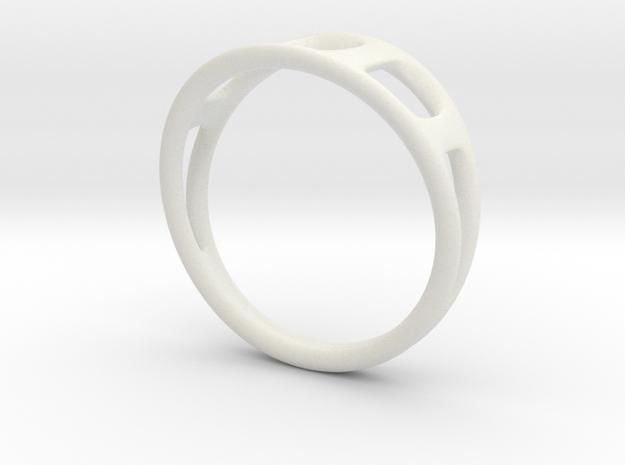 Ring2 in White Natural Versatile Plastic