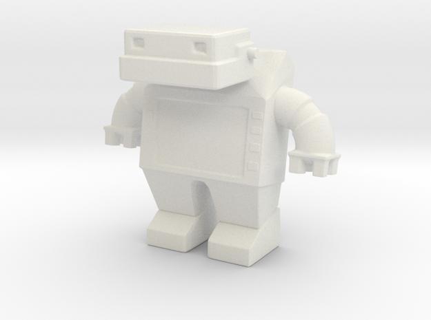 Robot 0030 Jaw Bot Diesel v1 in White Natural Versatile Plastic