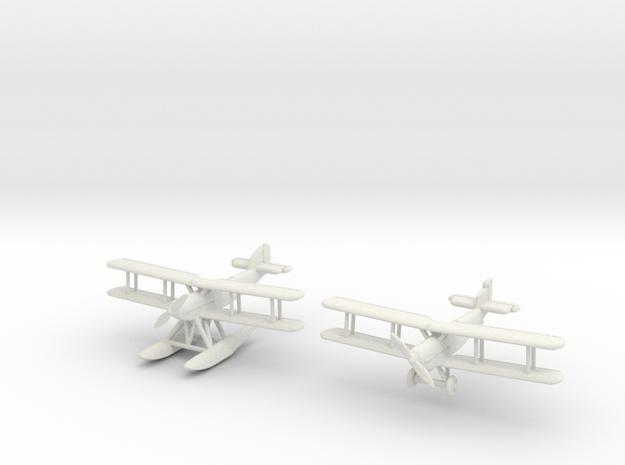 Fairey IIIF 2 airplanes (MarkI & MkIII) 1/285 6mm 3d printed