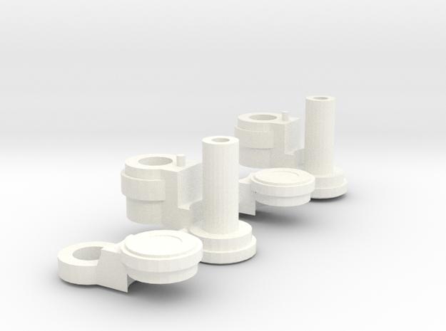 FoC Prime Knee Extensions (pair) in White Processed Versatile Plastic