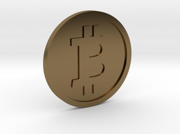 Coin Size bitcoin 3d printed
