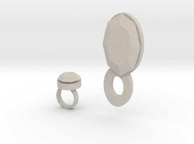 Lara Ring And Pendant 3d printed