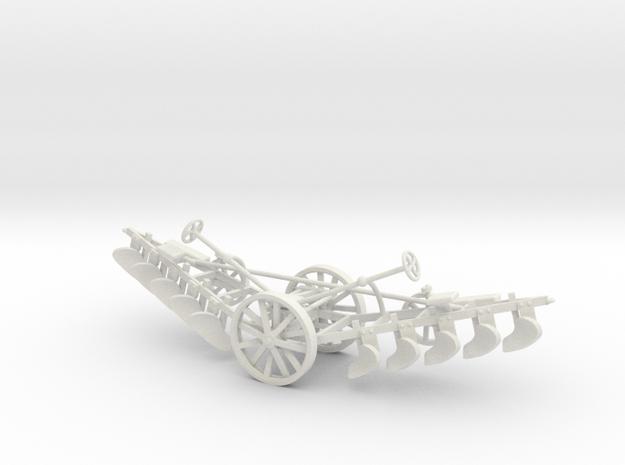 1000-2 Tilt Plough 1:87 in White Natural Versatile Plastic