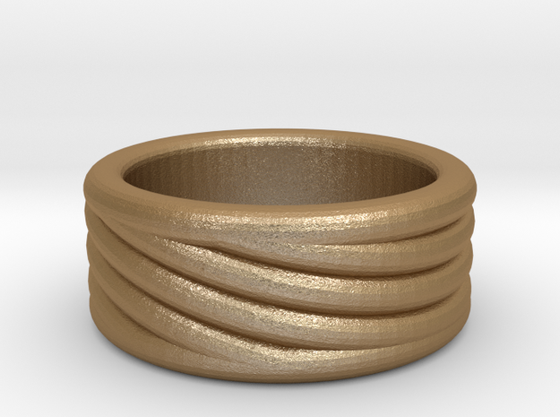 Balance Ring in Matte Gold Steel