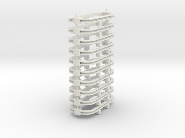 O9/55n2 steel chassis in White Natural Versatile Plastic