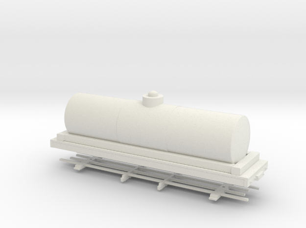 HOn30 28ft tank car 6' diameter  in White Strong & Flexible