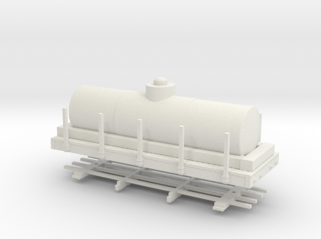 """HOn30 20 ft tank car 4'8"""" diameter 3d printed"""