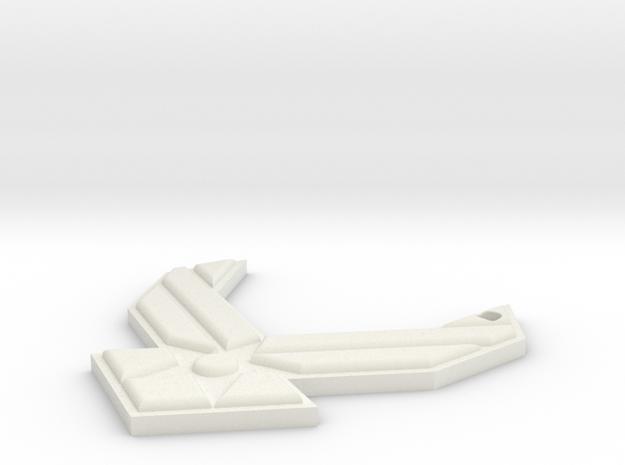 USAF Key Chain in White Natural Versatile Plastic
