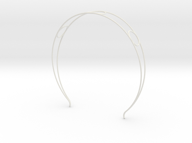 Head arc 6 in White Natural Versatile Plastic
