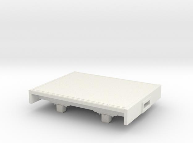 O9/On18 Flat  (kadee) in White Strong & Flexible