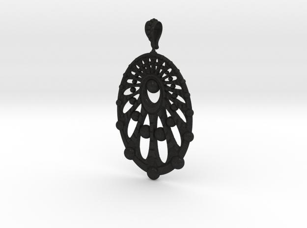 Earring Spheres in Black Acrylic