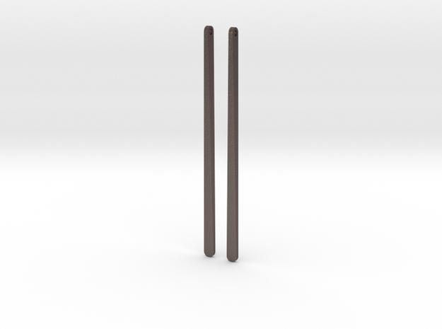 half twist earrings in Polished Bronzed Silver Steel