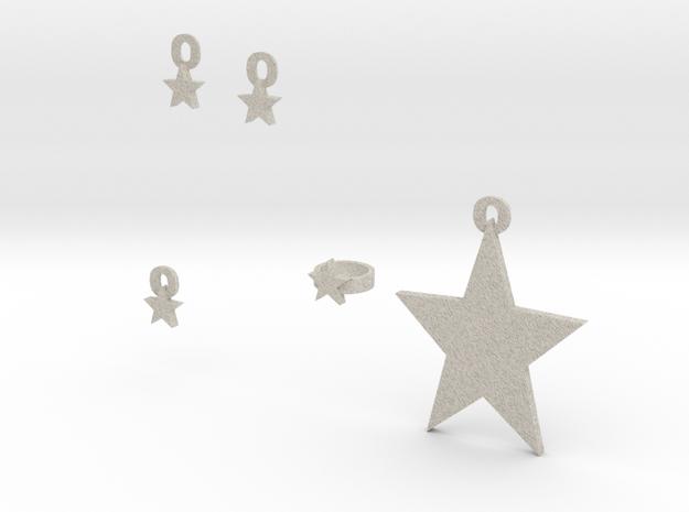 Star Jewelry Set 3d printed