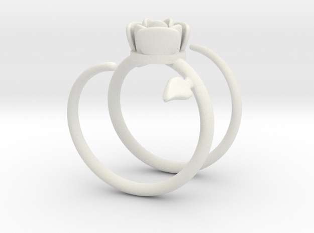 Rose ring 2 in White Natural Versatile Plastic