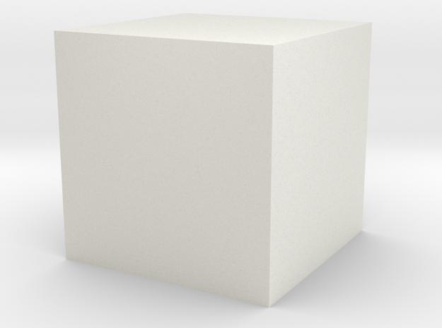 cube-1cm-centered unit-mm.obj 3d printed