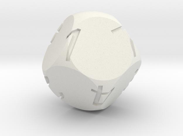 Alt D8 Sphere Dice in White Natural Versatile Plastic