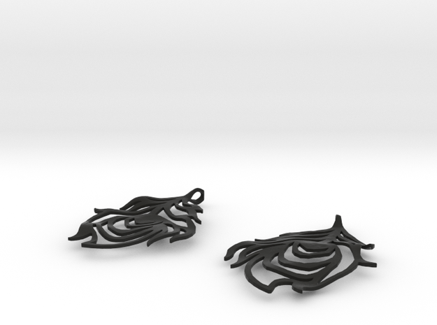 Feather Earrings 3d printed