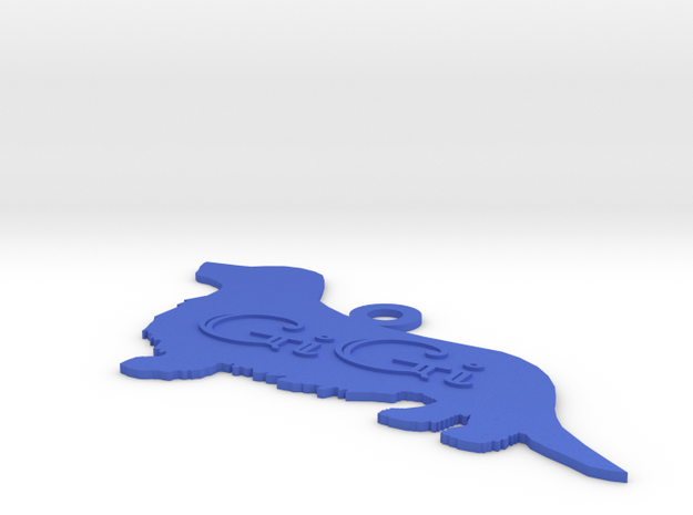 Silhouette Personalized Ornament (Dachshund - Wien 3d printed