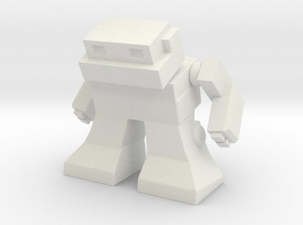 """Robot 0041 Mech Bot v2 1.75"""" tall in White Natural Versatile Plastic"""