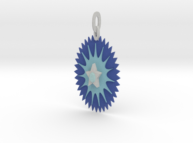 Ice Star Pendant 3d printed
