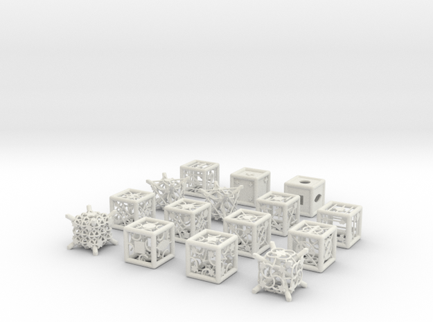 Grid Die All Pack 9 of 13 in White Natural Versatile Plastic