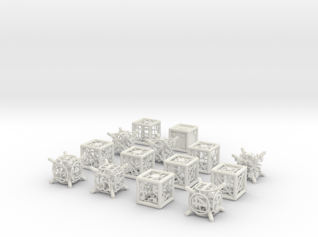 Grid Die All Pack 13 of 13 in White Natural Versatile Plastic
