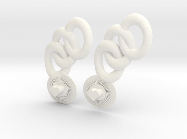 Bright Heart Earrings 3d printed