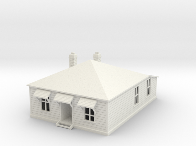 NZR Officers House 1:120 in White Natural Versatile Plastic