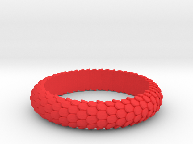 Dragon Scale Ring 3d printed