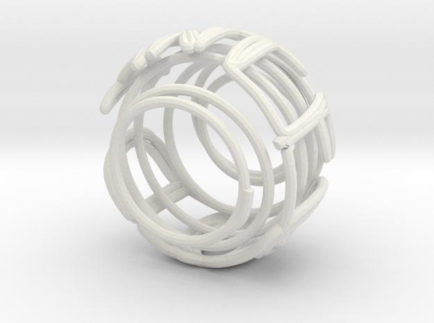 Swirl (30) in White Natural Versatile Plastic
