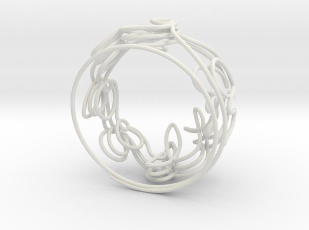 Swirl (34) in White Natural Versatile Plastic
