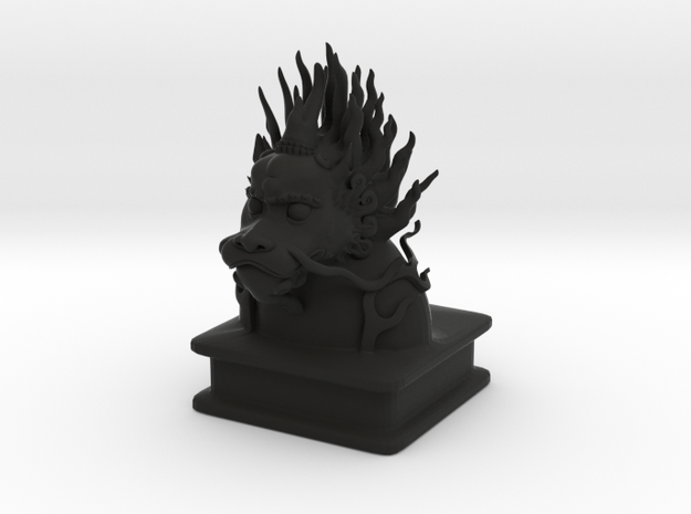 Lion Dog Bust 3d printed