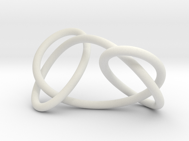Granny knot, 6cm version in White Strong & Flexible