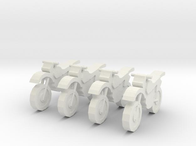 MG8701B Dirt Team Group (x4) 3d printed