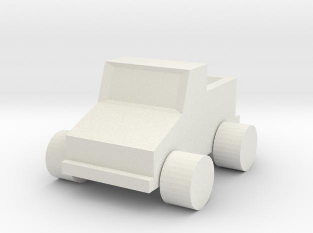 Alex Project Truck in White Natural Versatile Plastic