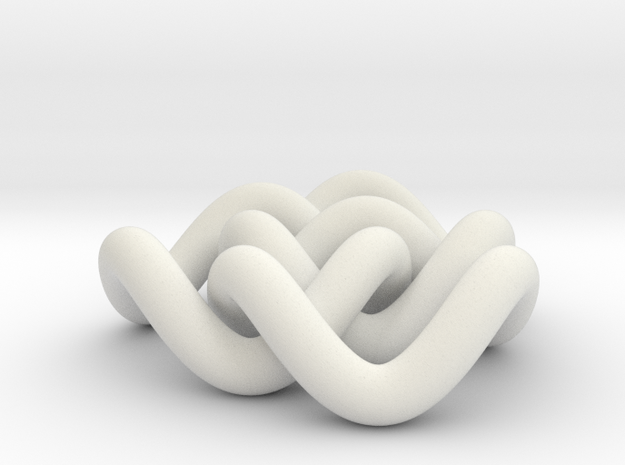 Borromean 6cm, thicker in White Natural Versatile Plastic