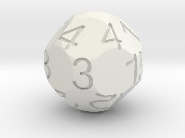 D15 Sphere Dice in White Natural Versatile Plastic