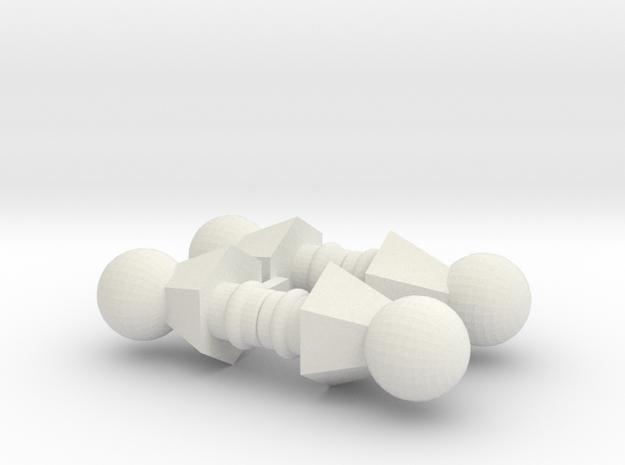 Action Figure Ball Necks 3d printed