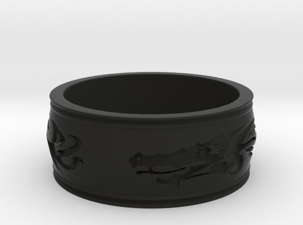Regent Dragon Ring Size 7 3d printed