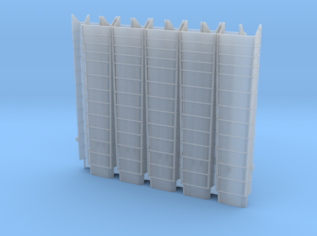 Coal Delivery Chute Narrow - Set of 10 - Nscale in Smooth Fine Detail Plastic