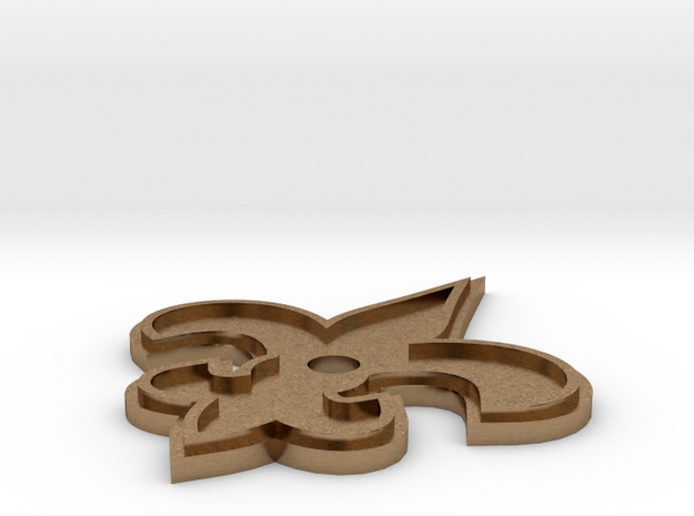Saints Pin (SILVER BACK) 3d printed