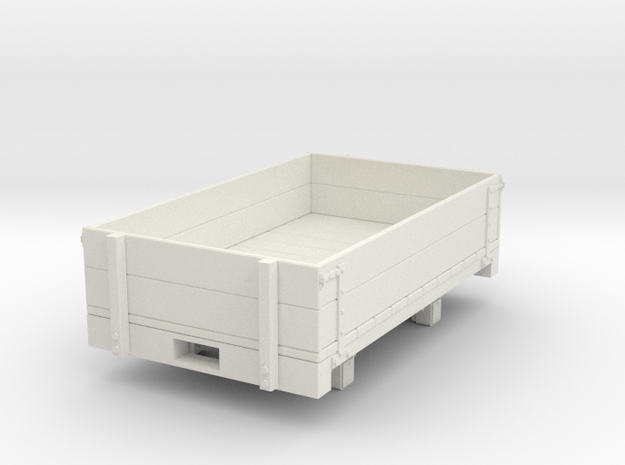 Gn15 Dropside wagon  in White Natural Versatile Plastic